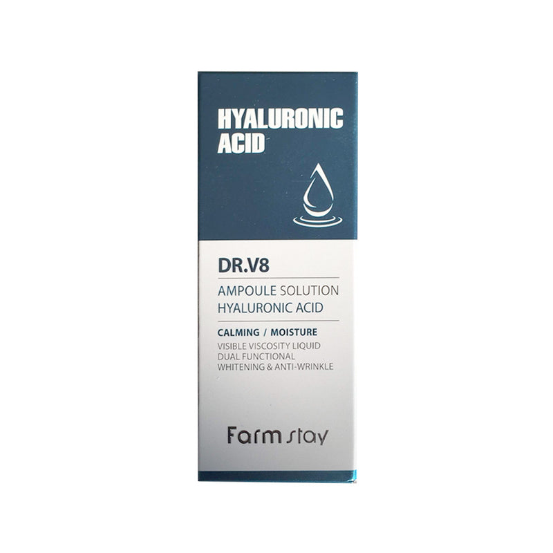 Farm Stay DR.V8 Ampoule Solution Hyaluronic Acid 30ml - Goryeo Cosmetics worldwide shop