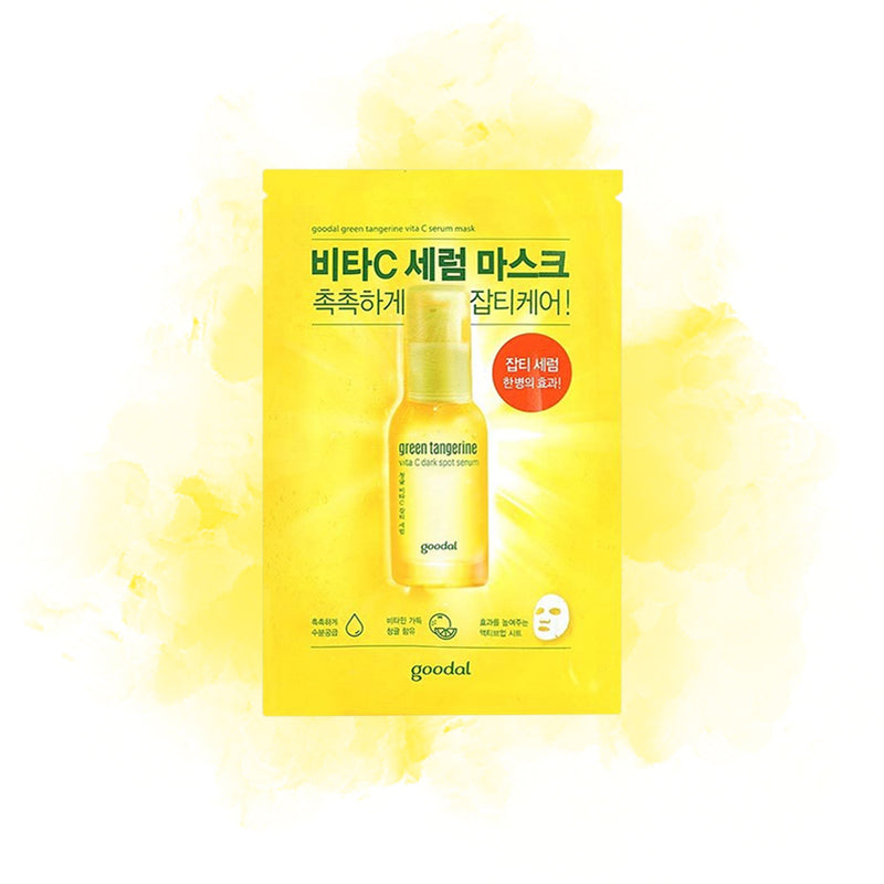 Goodal Green Tangerine Vita C Dark Spot Serum Sheet Mask 1PCS - Goryeo Cosmetics worldwide shop
