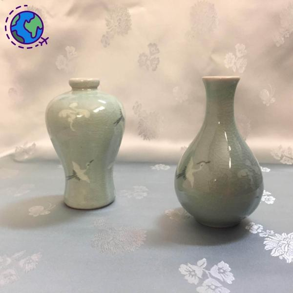Goryeo Celadon Set of Two Jars - Goryeo Cosmetics worldwide shop