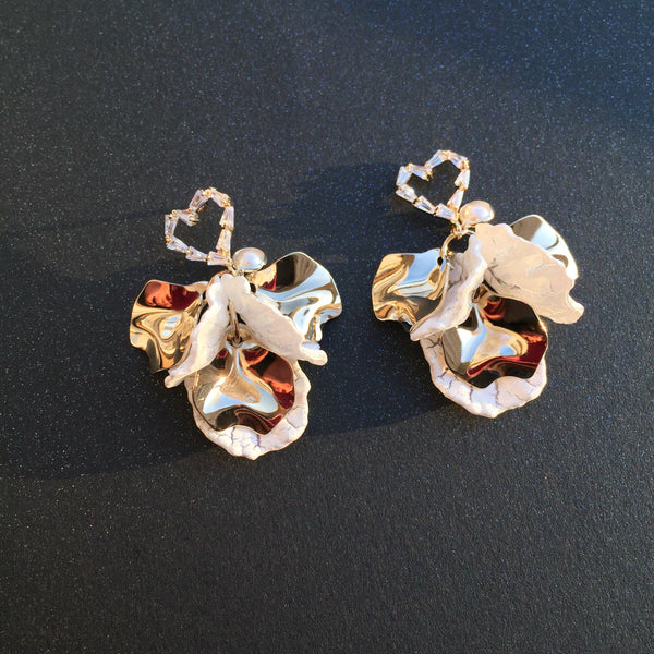 Korean style heart Shell earrings