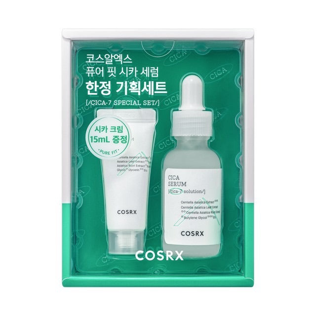 COSRX Special set Pure Fit Cica Serum 30ml + Cica cream 15ml - Goryeo Cosmetics worldwide shop