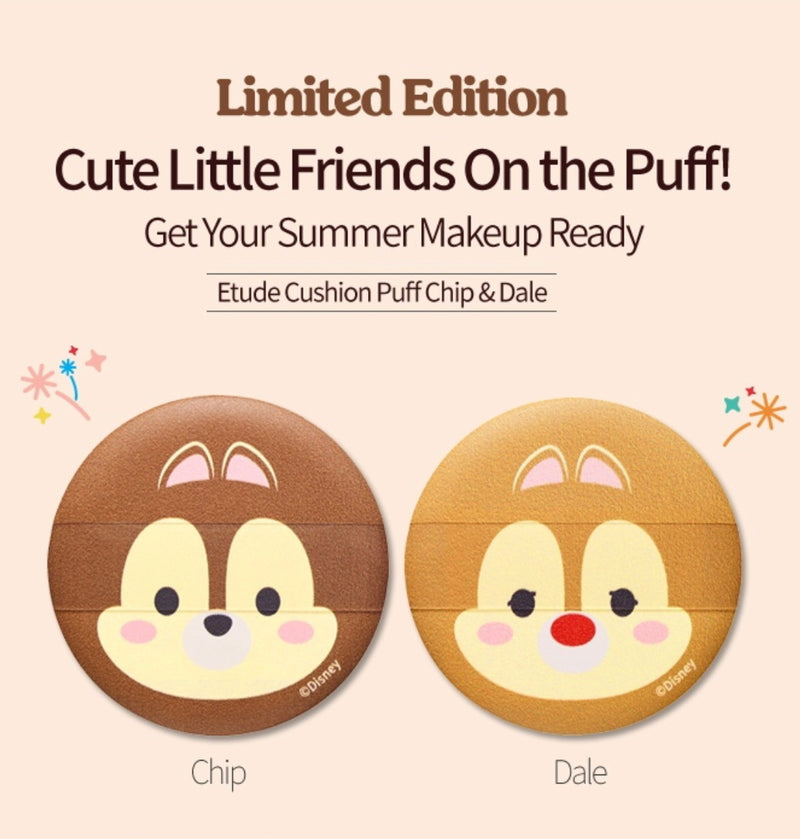 Etude House TSUM TSUM Cushion Puff Chip & Dale - Goryeo Cosmetics worldwide shop