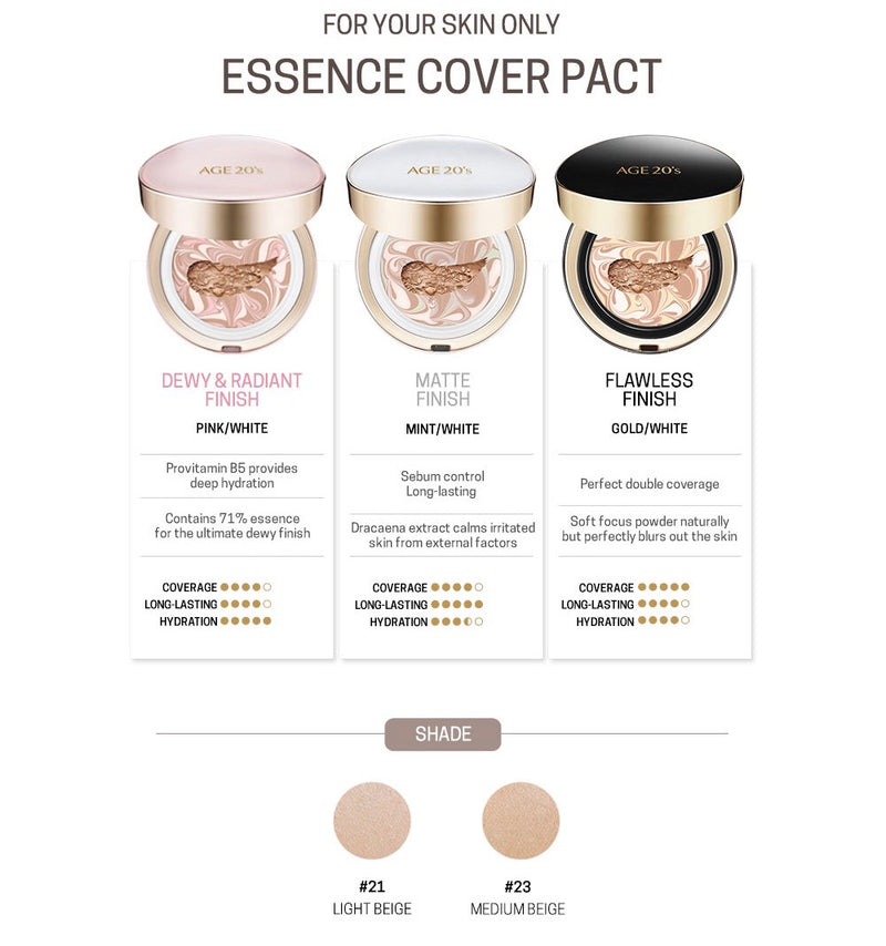 Age 20 Signature Essence Cover Pact - Long Stay - Goryeo Cosmetics worldwide shop