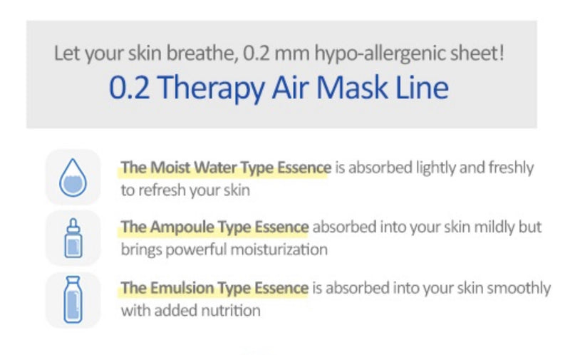 Etude House 0.2 Therapy Air Mask - Goryeo Cosmetics worldwide shop