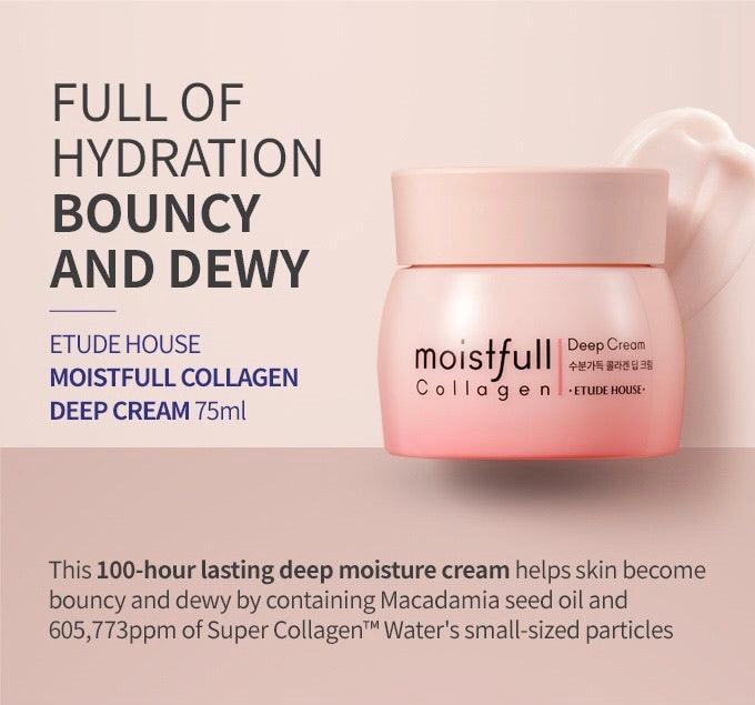 ETUDE HOUSE Moistfull Collagen Deep Cream - 75ml - Goryeo Cosmetics worldwide shop