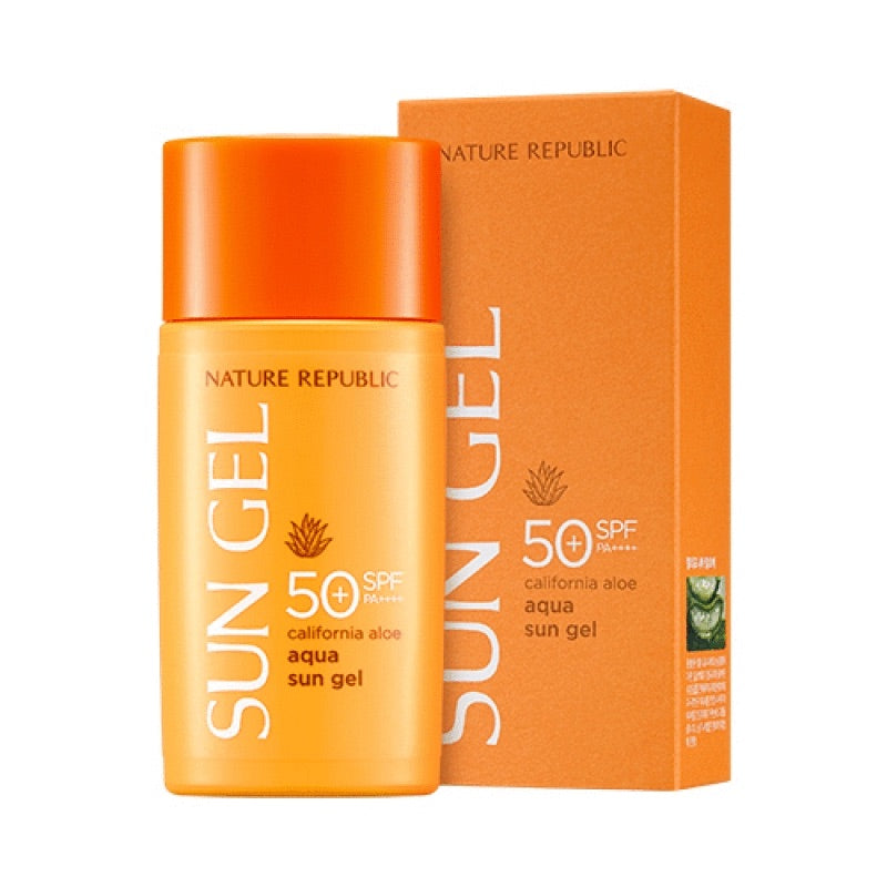 NATURE REPUBLIC - California Aloe Aqua Sun Gel SPF50+ PA++++ - Goryeo Cosmetics worldwide shop