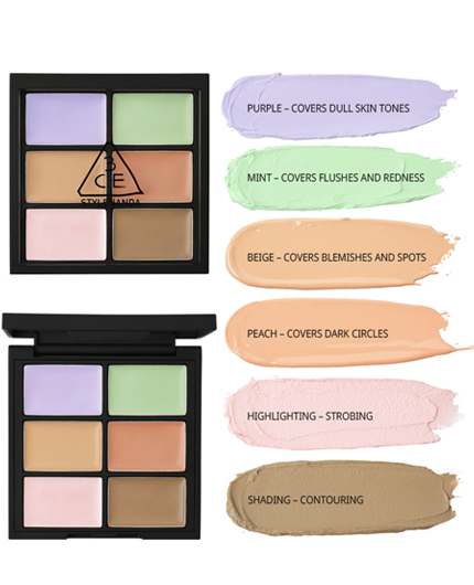 3CE Face Tuning Concealer Palette - Goryeo Cosmetics worldwide shop