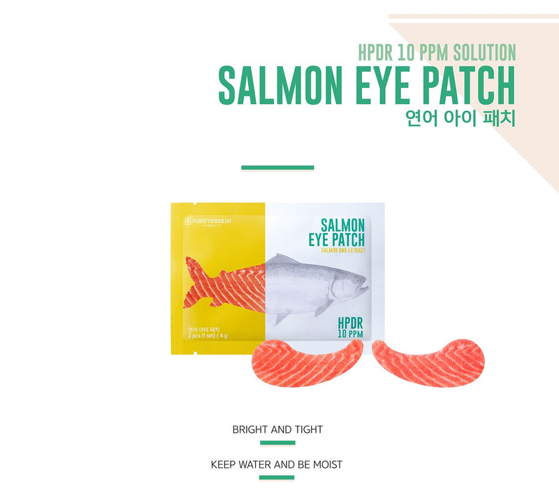 FOREVER SKIN Salmon Eye Patch 10pcs Salmon DNA Extract - Goryeo Cosmetics worldwide shop