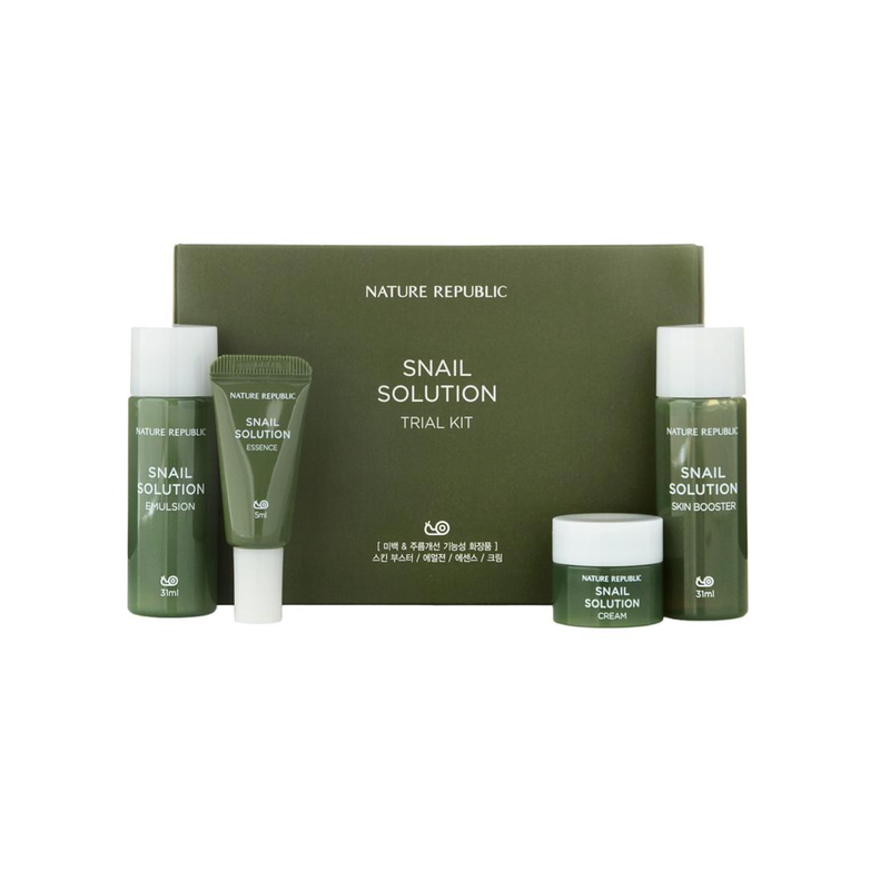 NATURE REPUBLIC Snail Solution Trial Kit - Goryeo Cosmetics worldwide shop