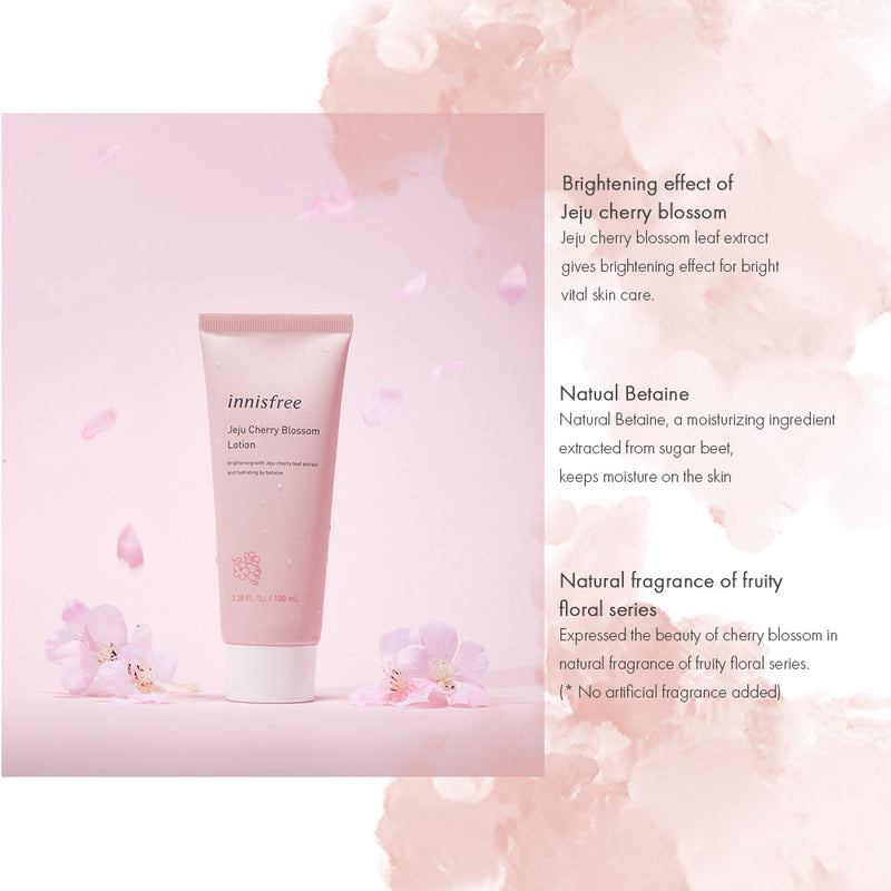 Innisfree Jeju Cherry Blossom Lotion - Goryeo Cosmetics worldwide shop