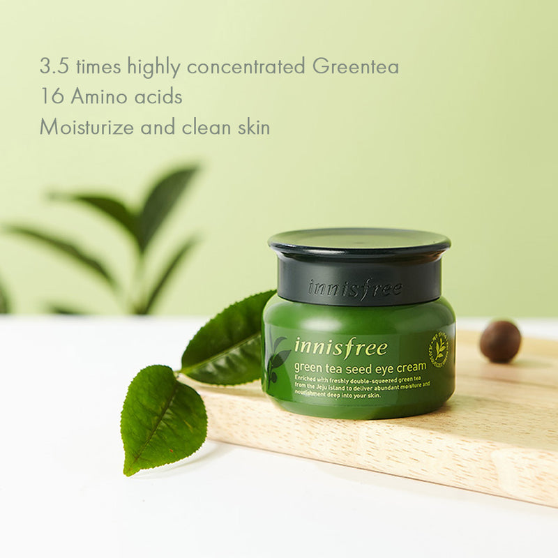 Innisfree Green Tea Seed Eye Cream 30ml - Goryeo Cosmetics worldwide shop