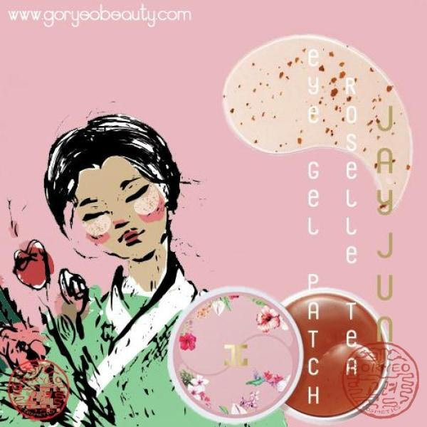 JAYJUN Roselle Tea Eye Gel Patch - Goryeo Cosmetics worldwide shop