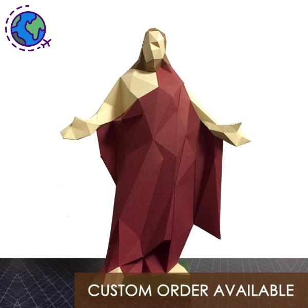 Jesus Christ low polygon paper craft statue - Goryeo Cosmetics worldwide shop