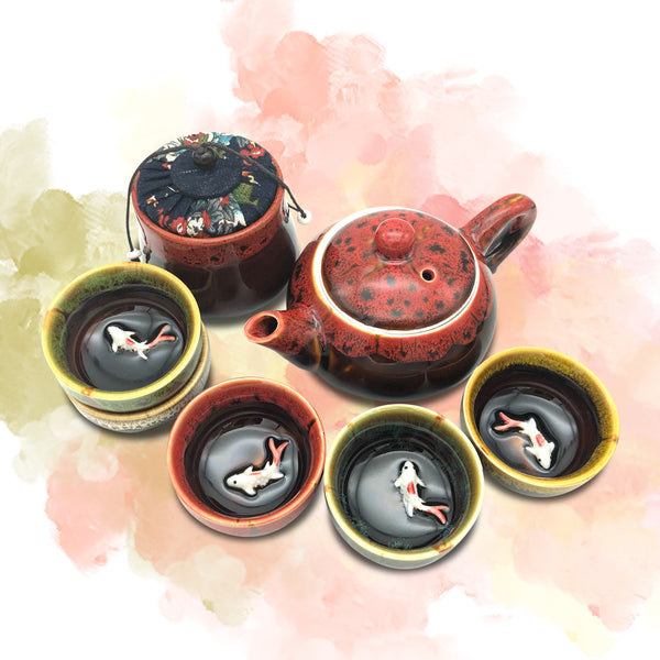 Korean traditional tea set