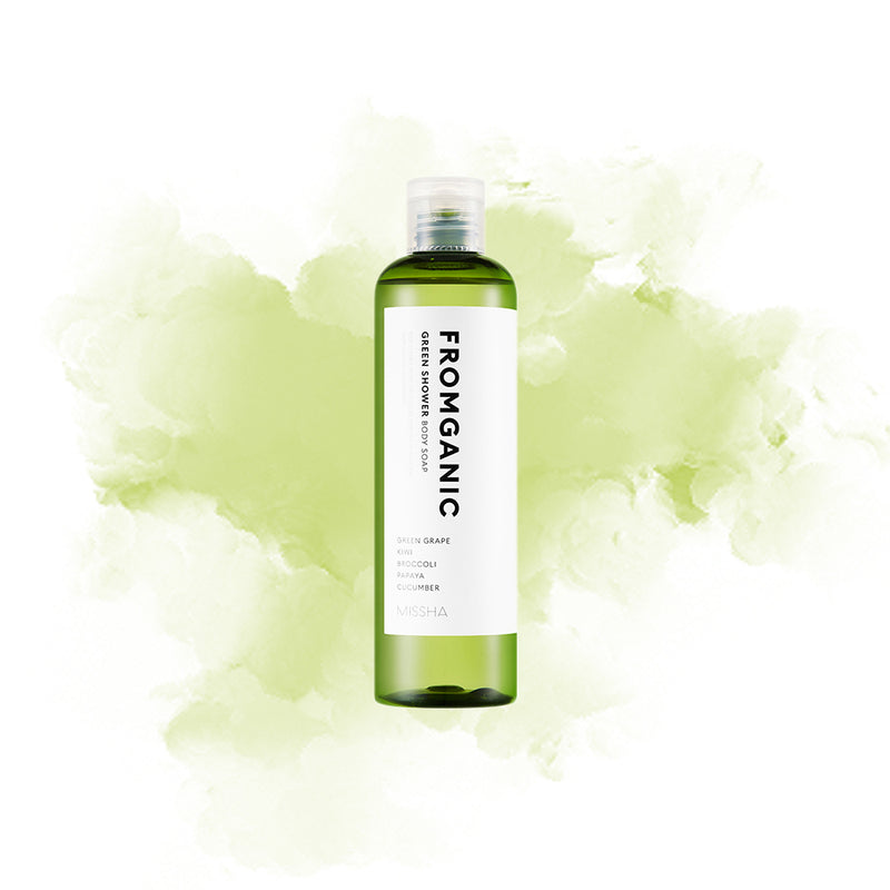 MISSHA FROMGANIC BODY FLUID (GREEN SHOWER) - Goryeo Cosmetics worldwide shop