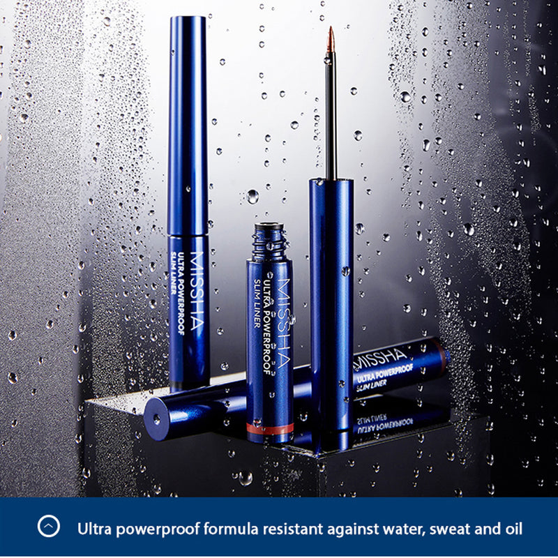 MISSHA ULTRA POWERPROOF SLIM LINER (MATT BROWN) - Goryeo Cosmetics worldwide shop