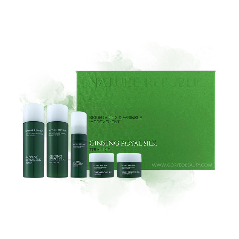 Nature Republic Ginseng Royal Silk Set (Watery Cream and Trial Kit) - Goryeo Cosmetics worldwide shop