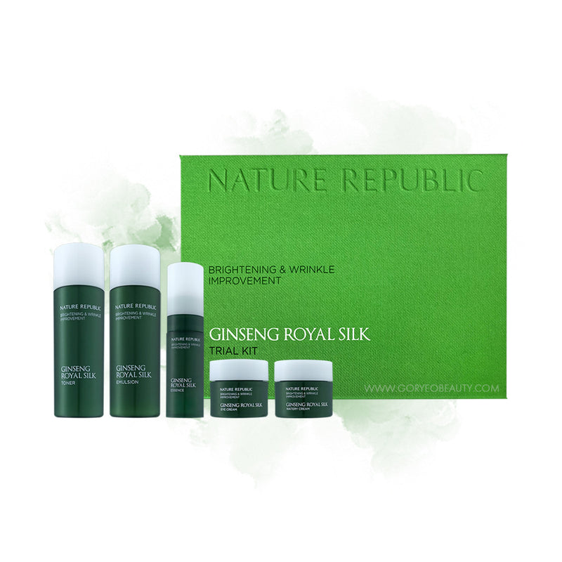 Nature Republic Ginseng Royal Silk trial kit - Goryeo Cosmetics worldwide shop
