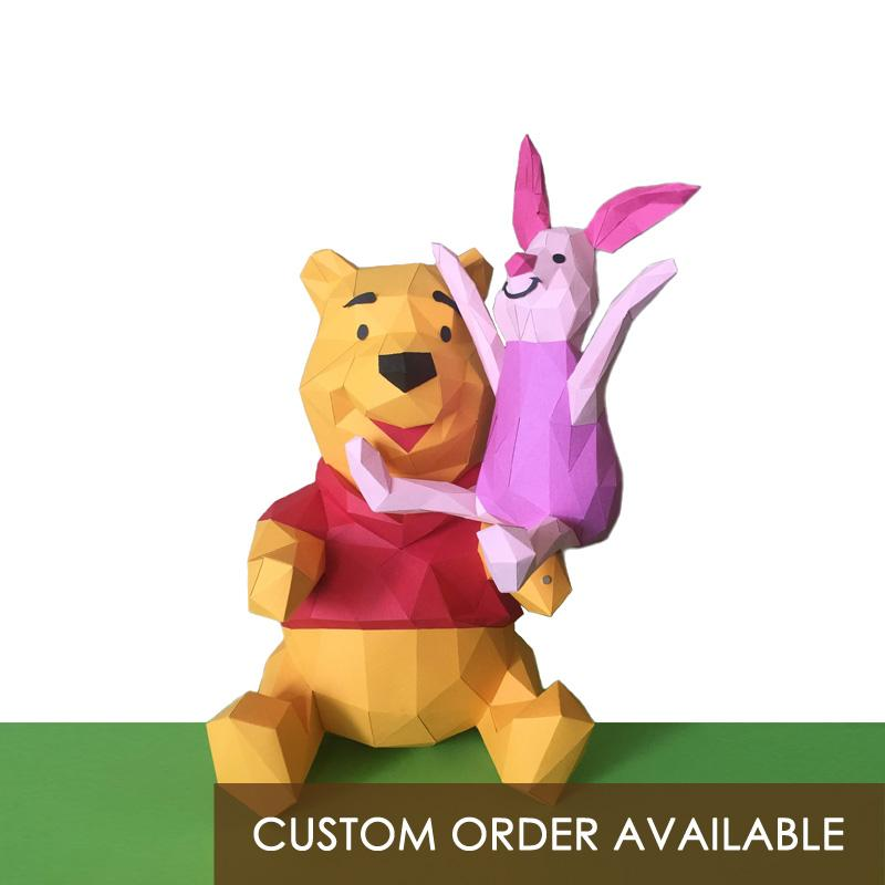 PIGLET low polygon paper craft statue - Goryeo Cosmetics worldwide shop