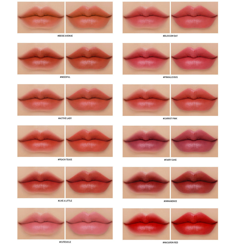 Stylenanda 3CE Cloud Lip Tint Kit 12pcs Matte Lipstain MLBB - Goryeo Cosmetics worldwide shop