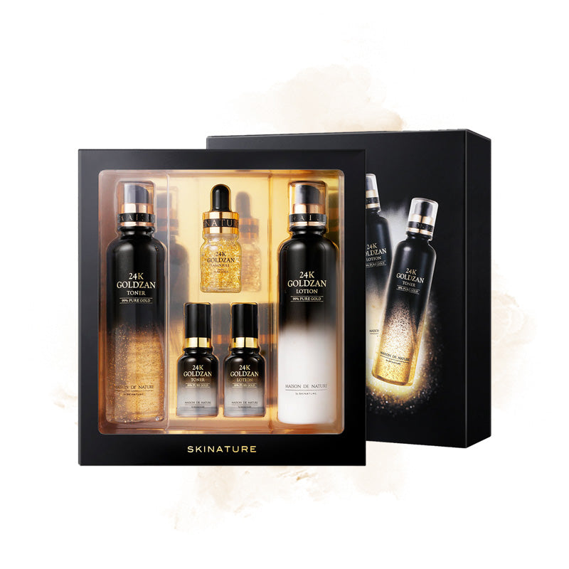 Skinature 24K Goldzan Toner & Lotion Special Set