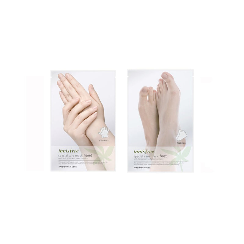 Innisfree special care set for hands and feet (2 masks) - Goryeo Cosmetics worldwide shop
