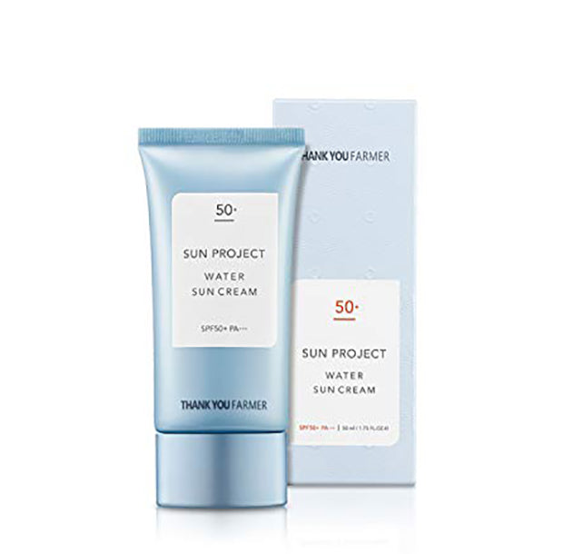 THANK YOU FARMER - Sun Project Water Sun Cream SPF50+ PA+++ 50ml - Goryeo Cosmetics worldwide shop