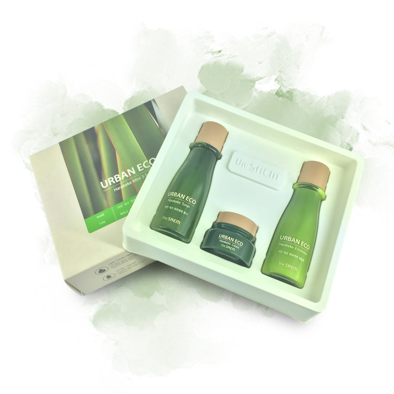the SAEM URBAN ECO Harakeke Mini 3 Set - Goryeo Cosmetics worldwide shop
