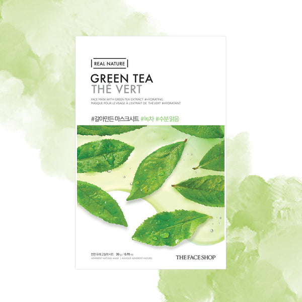 THE FACE SHOP GREEN TEA Real Nature Mask