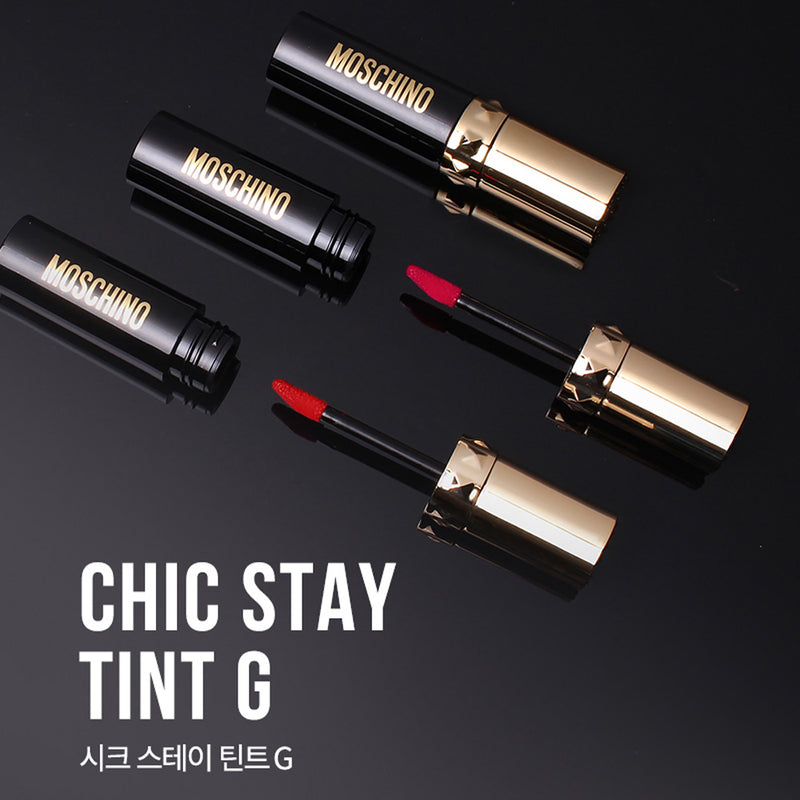 TONYMOLY MOSCHINO Chic Stay Tint G Trio- 01 Russian Bold - Goryeo Cosmetics worldwide shop