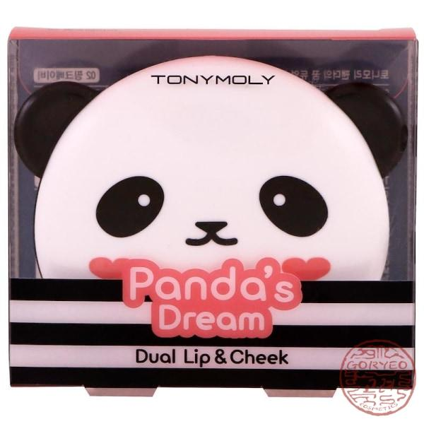 TONYMOLY, Panda's Dream, Dual Lip & Cheek, Pink Baby, 1.7 g x 2 - Goryeo Cosmetics worldwide shop
