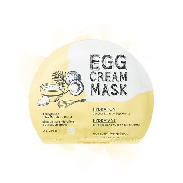too cool for school Egg Cream Masks and Gel Patch Set