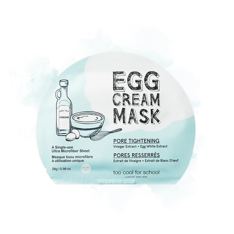too cool for school Egg Cream Mask Pore Tightening - Goryeo Cosmetics worldwide shop