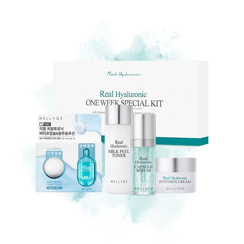 WELLAGE Real Hyaluronic One Week Special Kit - Goryeo Cosmetics worldwide shop