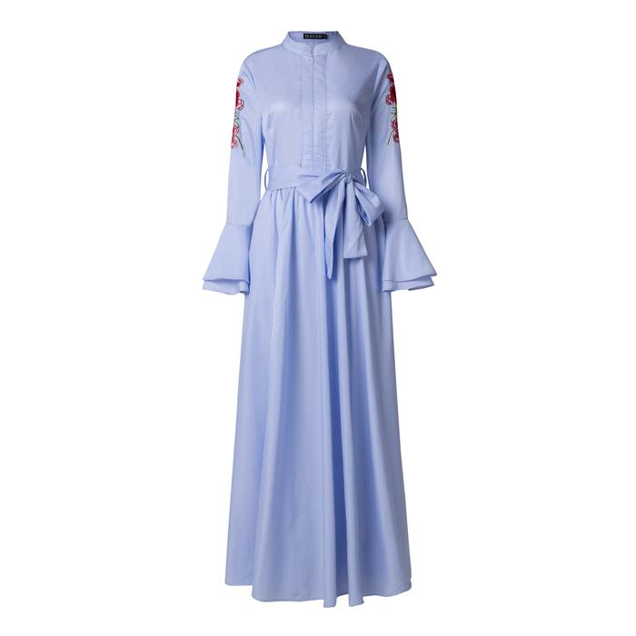 Embroidery Sleeve Dress