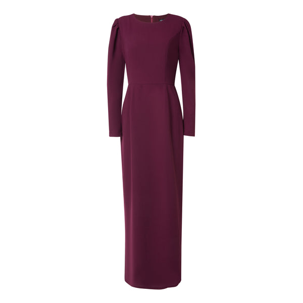 CURBSIDE PICK-UP Burgundy Pencil Dress