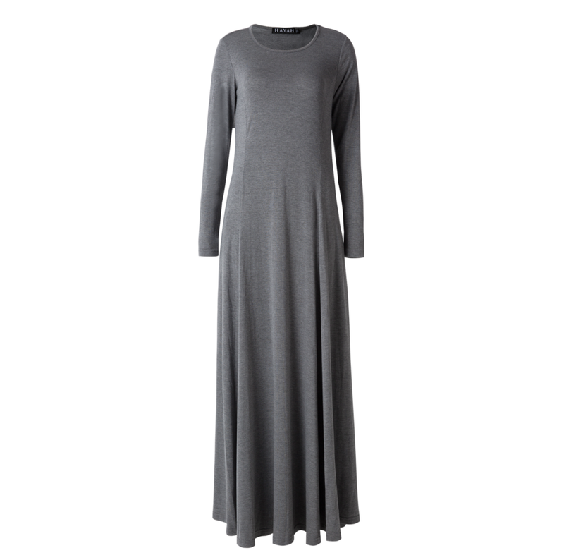 CURBSIDE PICK-UP Charcoal Swing Abaya
