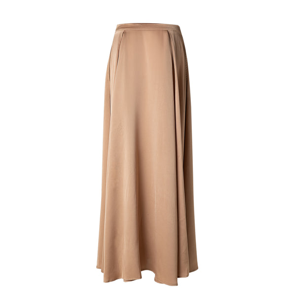 Rust Satin Skirt