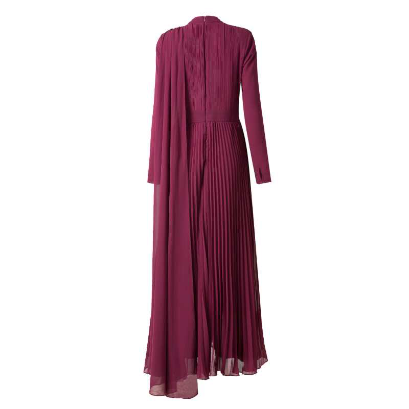 CURBSIDE PICK-UP Burgundy Stole Gown