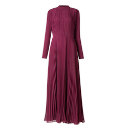 Burgundy Stole Gown