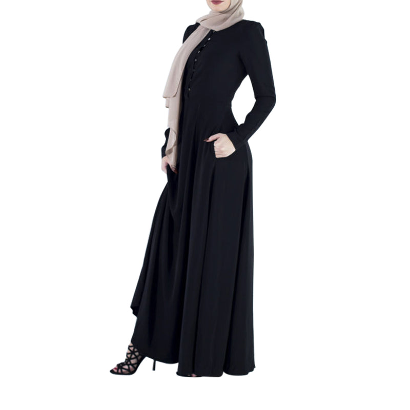 CURBSIDE PICK-UP Black Flare Abaya