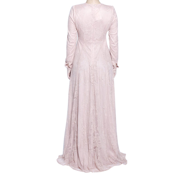 CURBSIDE PICK-UP Kashmiri Pink Lace Gown