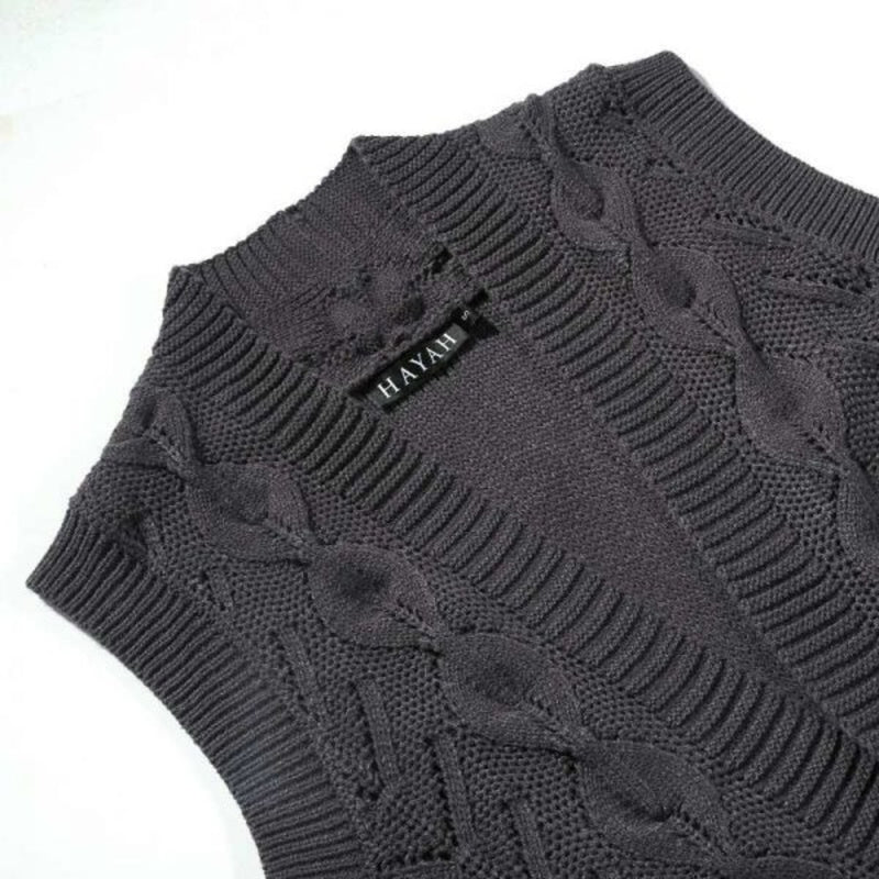 CURBSIDE PICK-UP Charcoal Wool Vest