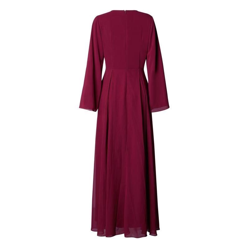 CURBSIDE PICK-UP RED PLUM KIMONO GOWN