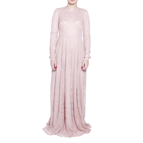 Kashmiri Pink Lace Gown