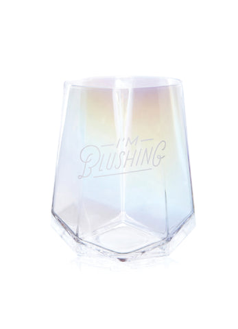 Iridescent Stemless Wine Glass