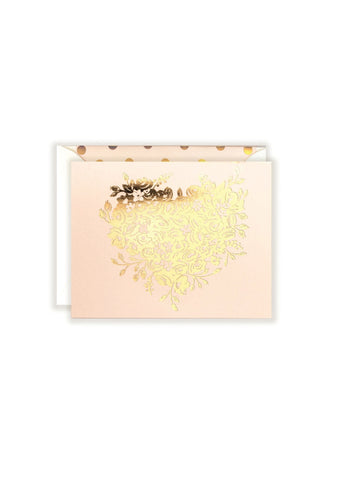 Congrats Gold Floral Card