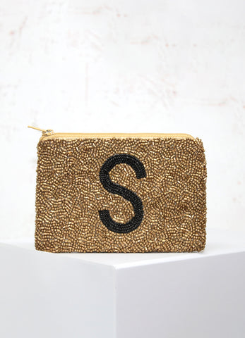 Gold Initial Coin Purse