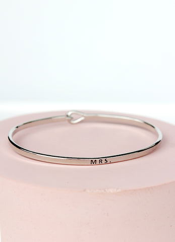 Mrs Engraved Bracelet
