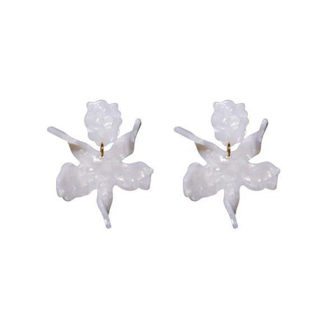 Small Paper Lily Earring